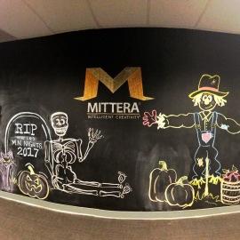 Fall Fun Chalkboard Mural